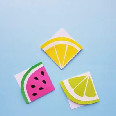 Fruit Origami Corner Bookmark