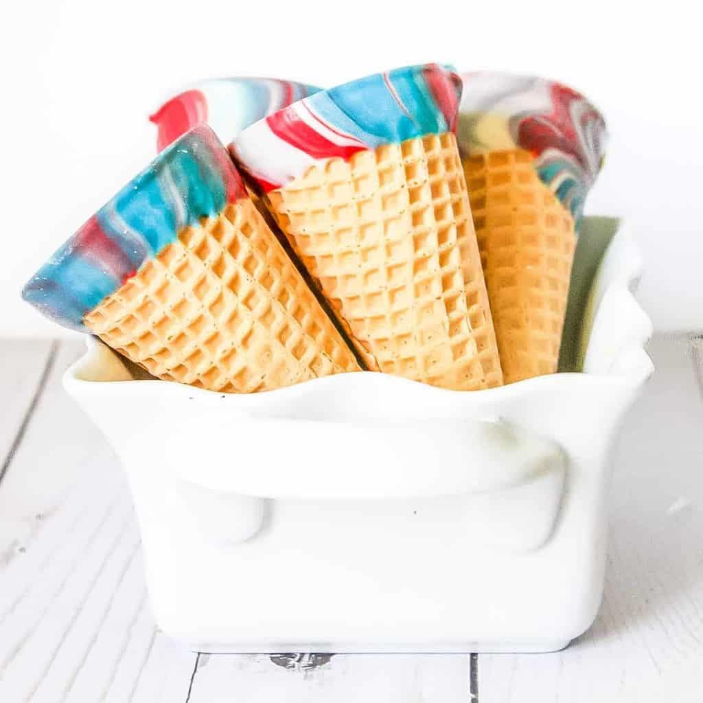 Patriotic Dipped Ice Cream Cones