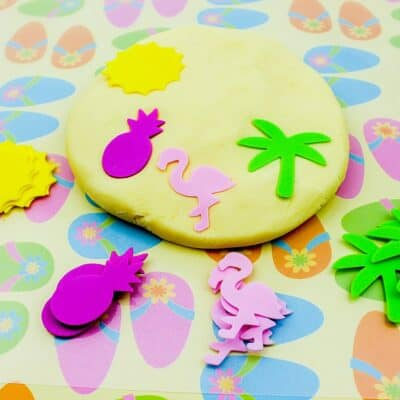 Summer Beach Pudding Play Dough