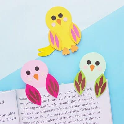 Adorable Bird Hug Bookmark