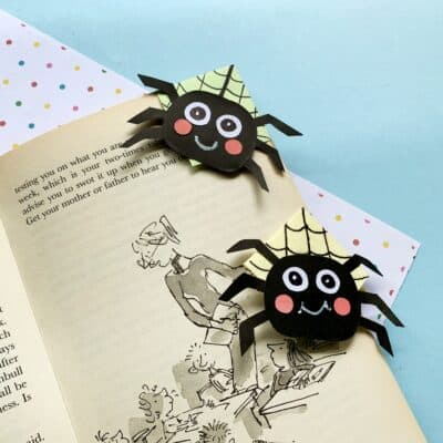 Spider Halloween Bookmark