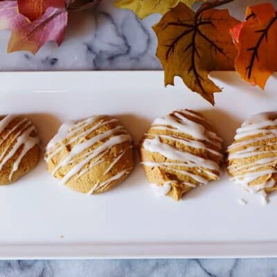 Amazing Glazed Pumpkin Spice Cookies