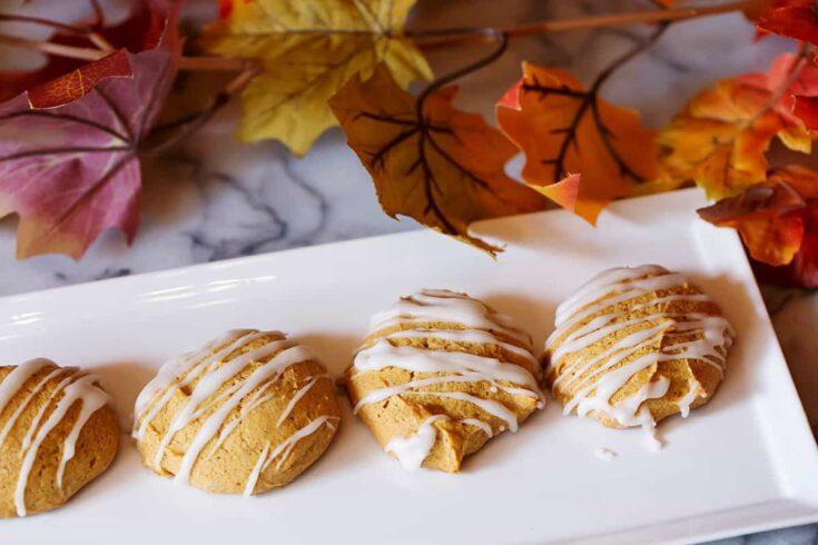 Glazed Pumpkin Spice Cookies