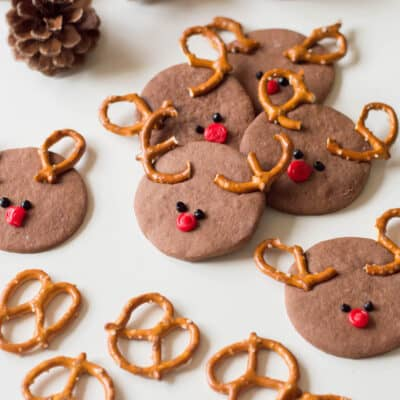 Chocolate Rudolph Sugar Cookies