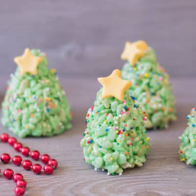 Christmas Tree Rice Crispy Treats