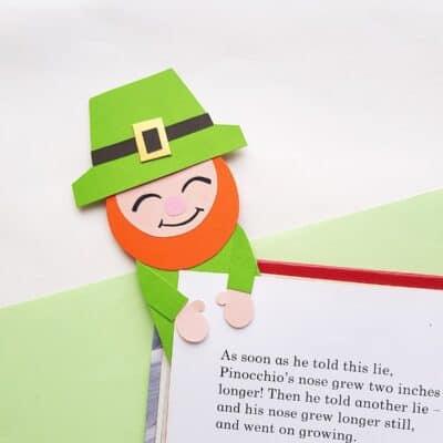 Super Cute Leprechaun Bookmark Craft