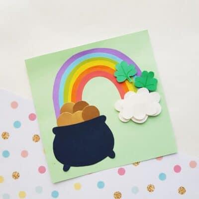 Rainbow St. Patrick's Day Craft