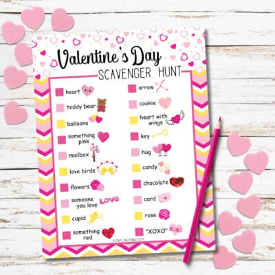 Free Printable Valentine Scavenger Hunt