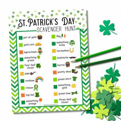 Free Printable St. Patrick's Day Scavenger Hunt
