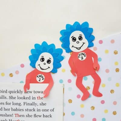 Dr. Seuss Bookmark – Thing 1 & Thing 2 Craft