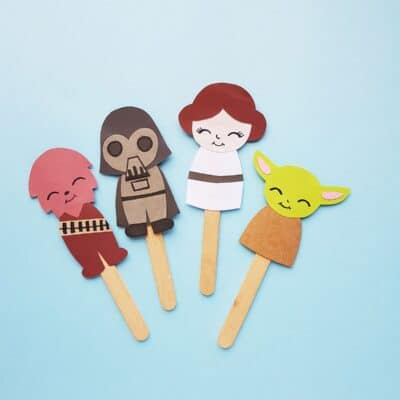 DIY Star Wars Puppets for Star Wars Day