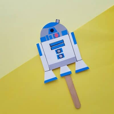 How to Make a Puppet R2D2 Craft