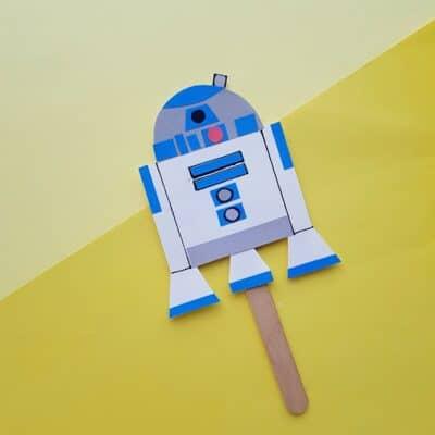 How to Make a Puppet R2D2 Craft