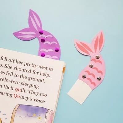 DIY Mermaid Tail Bookmarks