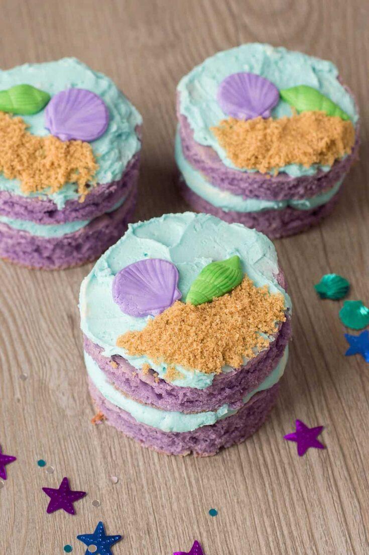 Mini Mermaid Cakes