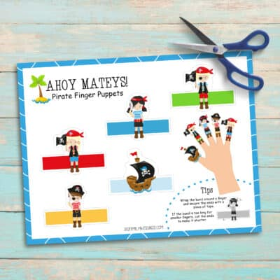 Printable Pirate Finger Puppets