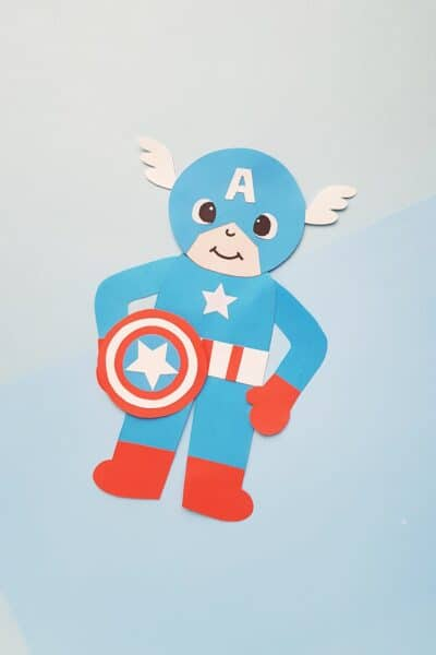 how to make a captain america puppet