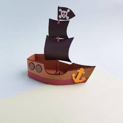 DIY Pirate Ship Craft for Kids