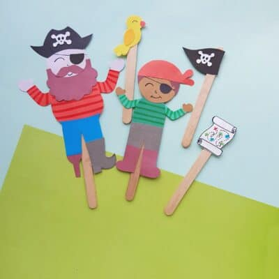 Pirate Puppet Craft for Kids
