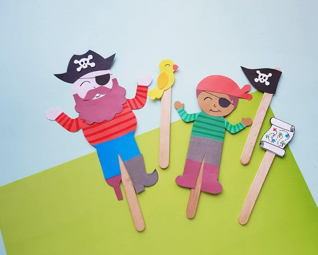 pirate popsicle stick puppets