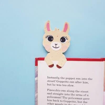 Llama Bookmark Craft