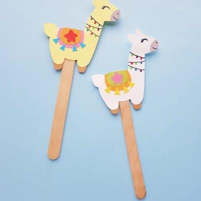Llama Puppet Craft