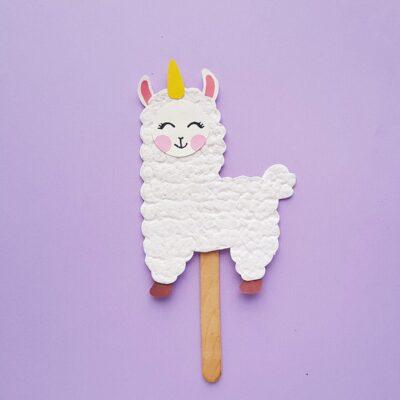 Llamacorn Puppet Craft