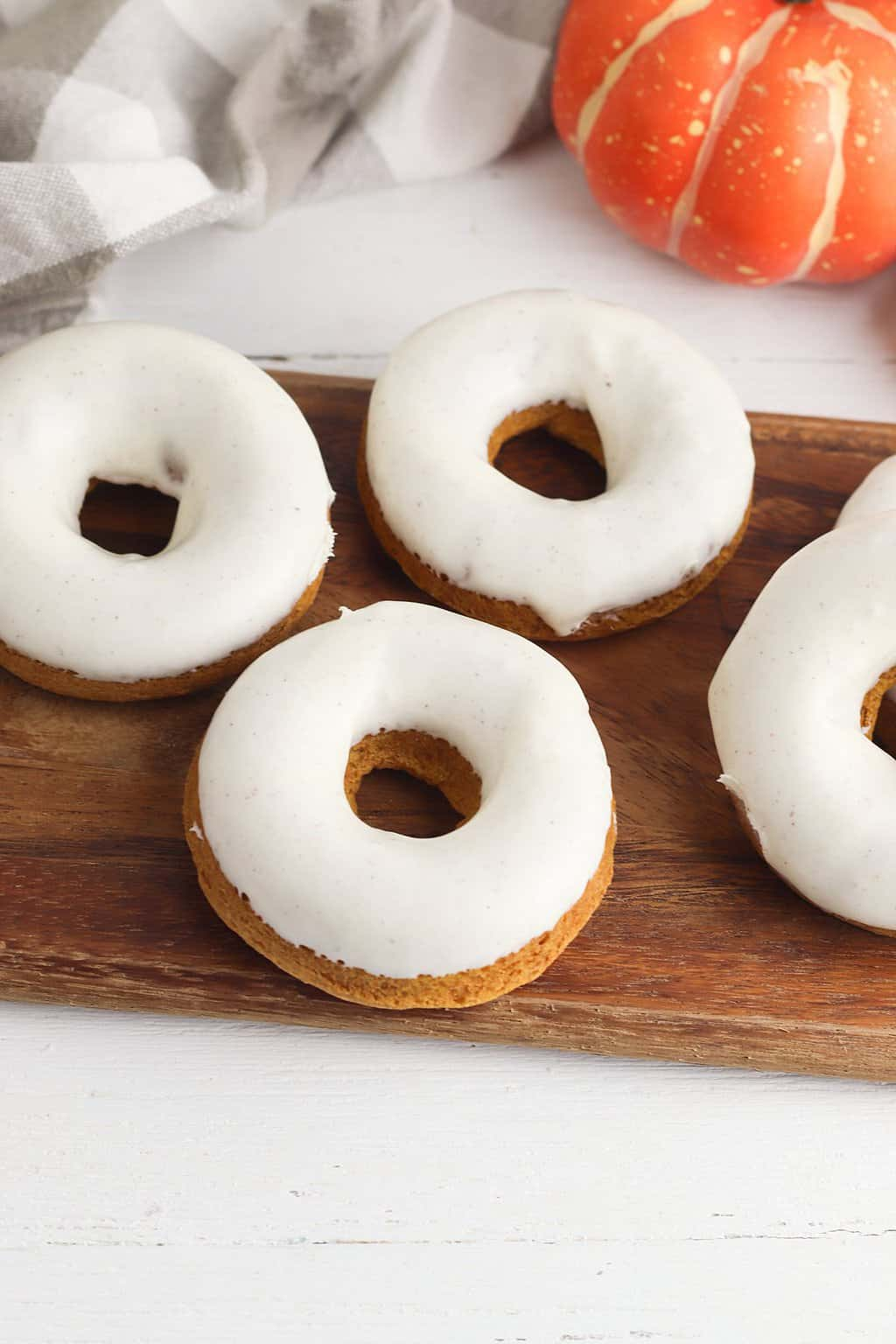 Easiest Ever Cake Mix Pumpkin Donuts