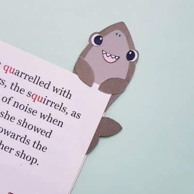Shark Bookmark Craft