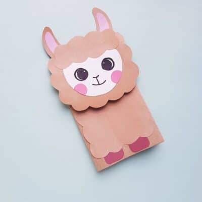 Paper Bag Llama Puppet