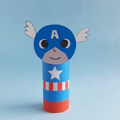 Toliet Paper Roll Captain America Craft