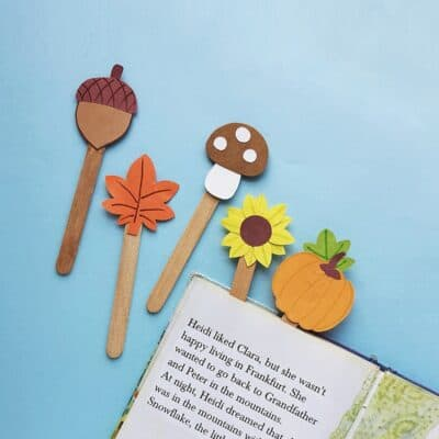 DIY Fall Popsicle Stick Bookmarks