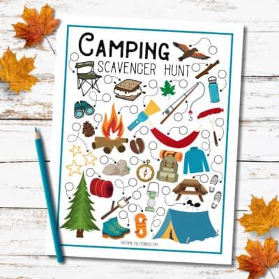 Free Printable Camping Scavenger Hunt