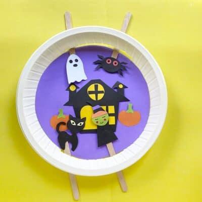 Paper Plate Halloween Craft