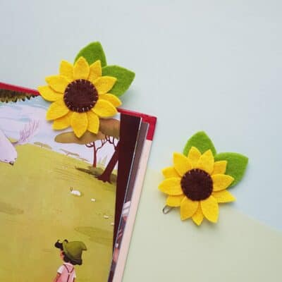DIY Felt Sunflower Bookmark