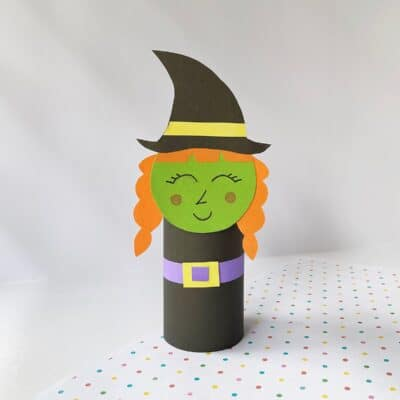 Witch Halloween Toilet Paper Roll Craft