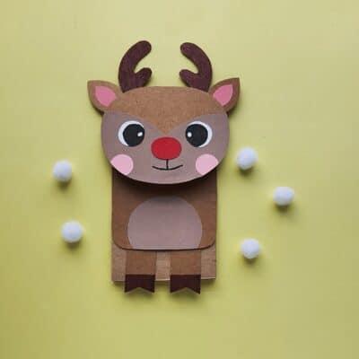 Rudolph Paper Bag Puppet Craft