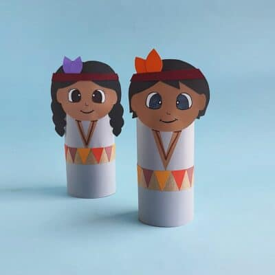 Toilet Paper Roll Native American Craft